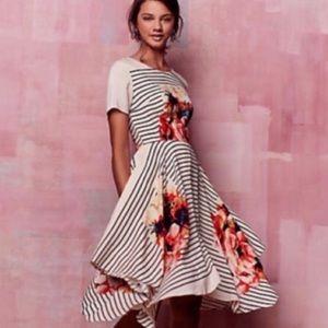 Anthropology Corey Lynn Calter floral stripe dress